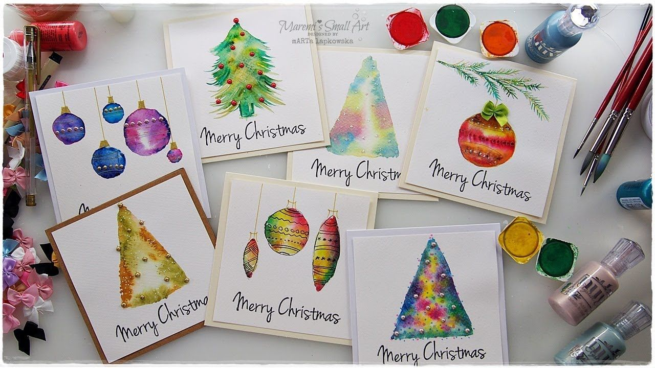 7 Watercolor Christmas Card Ideas For Beginners Maremi S Small