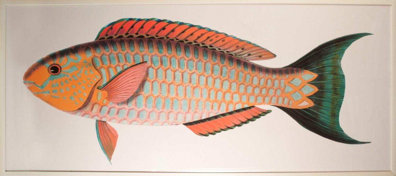 Bennett Fish 2 Artwork: Beach Decor, Coastal Home Decor, Nautical Decor, Tropical Island Decor