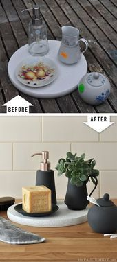 Easy Trash to Treasure Upcycleusing spray paint lazy susan saucer pump dispe Easy Trash to Treasure Upcycleusing spray paint lazy susan saucer pump dispe