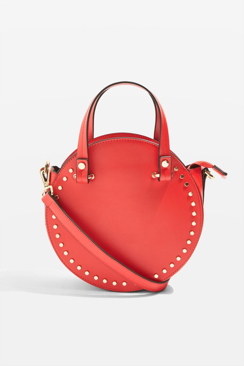 18ab1c5867 Taylor Round Circle Studded Tote Bag