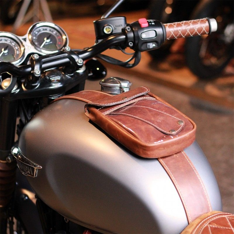 Guanti Moto Pelle Retro Old School CAFE RACER CHOPPER NERO CRUISER