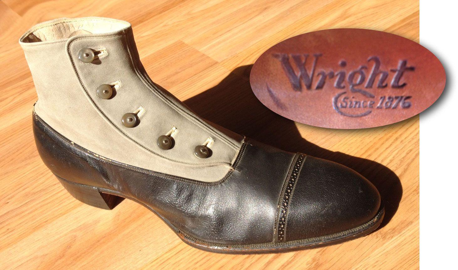 1920s-shoeseum-mens-5-button-captoe-shoe-wright-brand1.jpg 1462×862 pikseliä