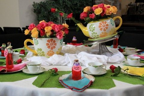 Tea Table Decorations Mad Hatter Party Ideas Part 2 Best