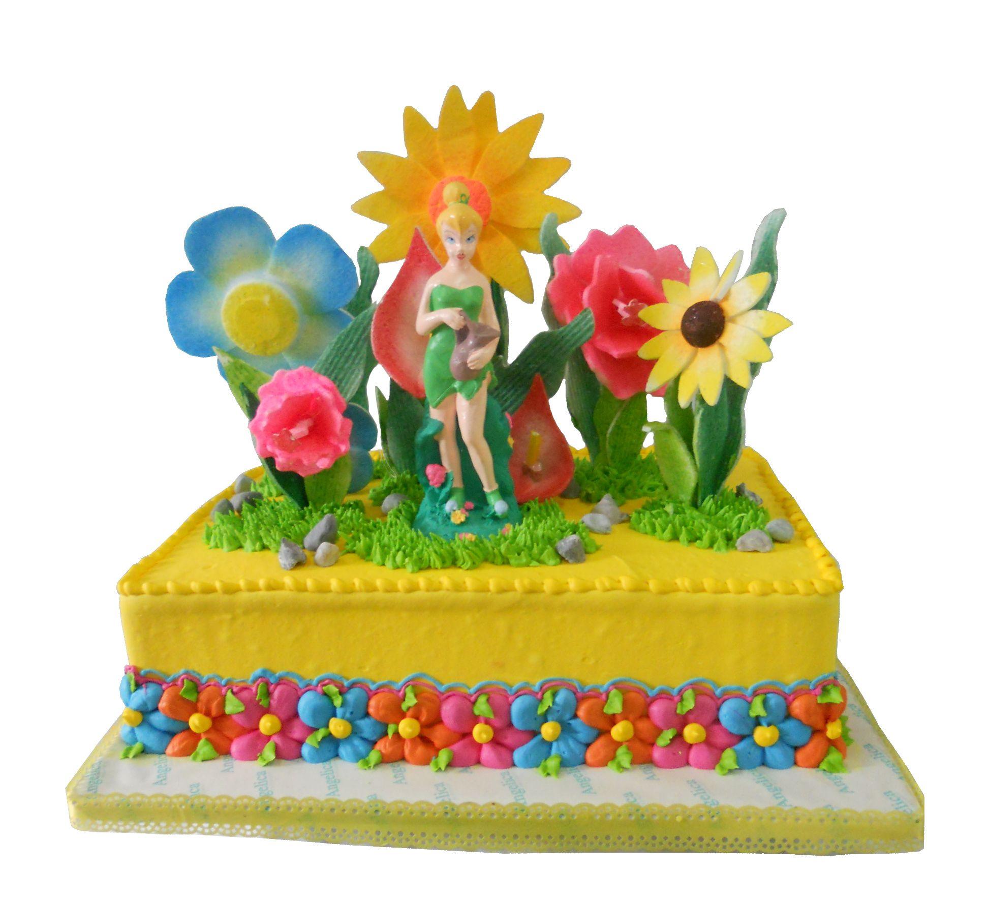 Tinkerbell 39 s yellow garden angelica bakeshop cebu kids for Angelica cake decoration