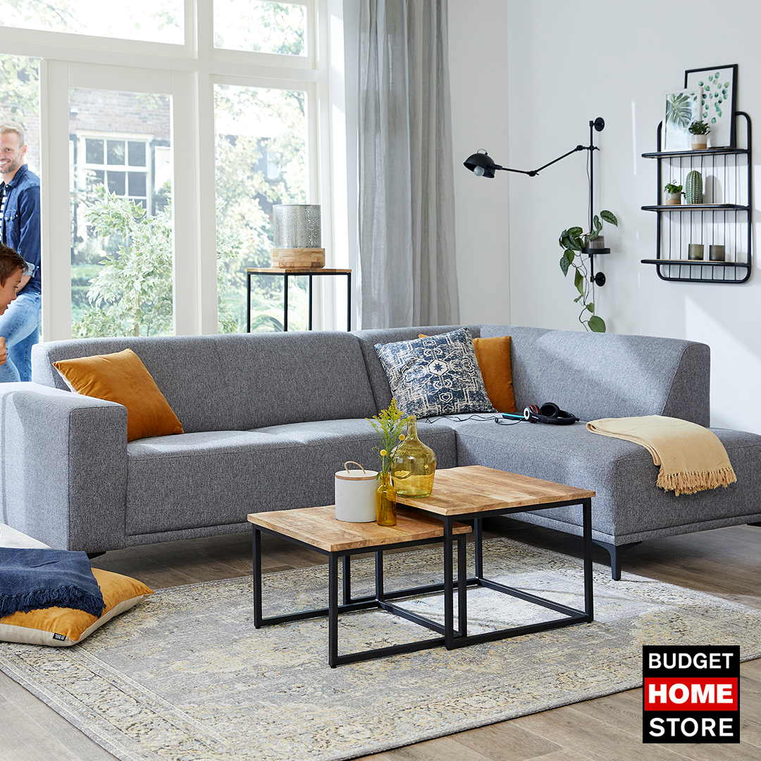 Strak Design Bank.Bank Lavero Budget Home Store Collectie Grijze Bank Hoekbank En