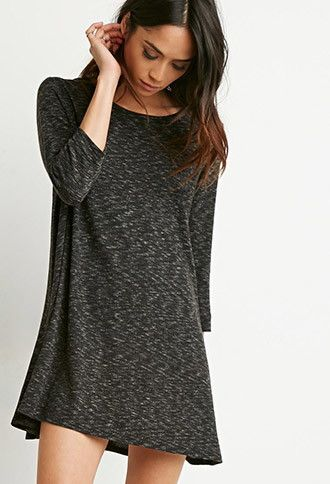 Marled Knit Trapeze Dress | Forever 21 - 2000142270