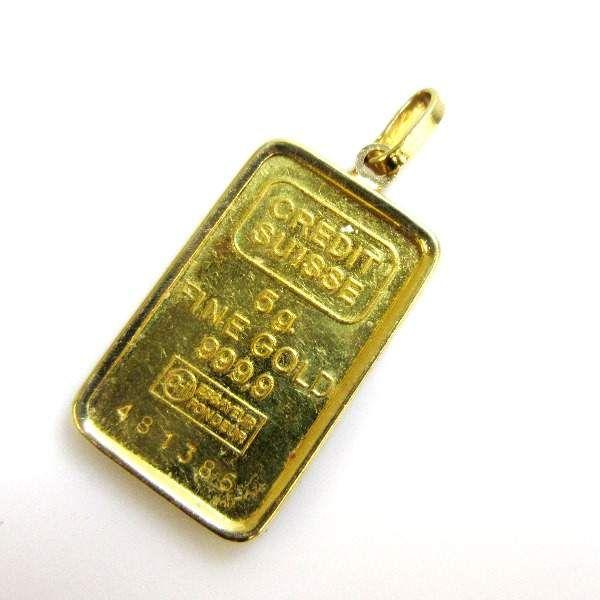 18k Credit Suisse 5 Gram Fine Gold Pendant 1113 Gold Pendant Credit Suisse Pendant