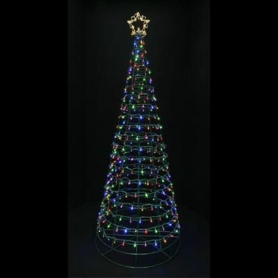 Home Accents Holiday 6 ft. 3 in. LED Twinkling Tree ...