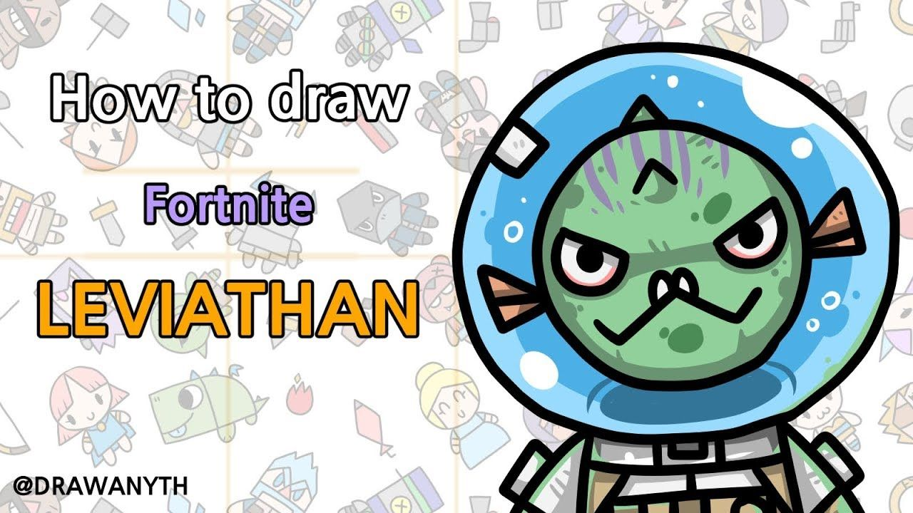 How to draw leviathan fortnite