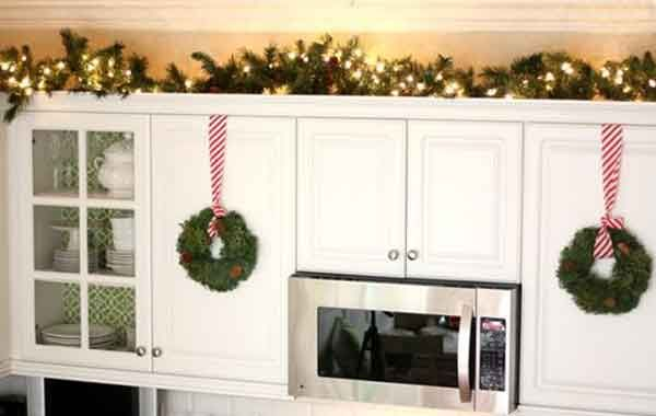 xmasideasforabovekitchencabinets christmas table decorations christmas table ideas kitchen traditional - Christmas Decorations For Kitchen Cabinets
