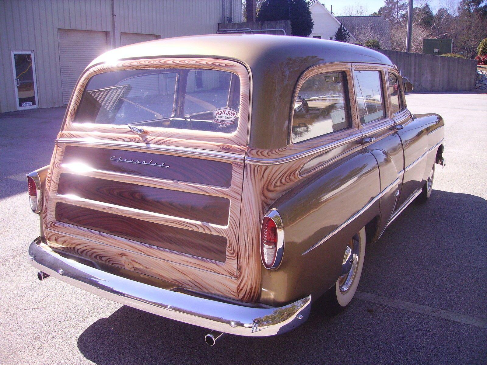 54 Chevrolet Bel Air 150 210 Tin Woody Wagon Chevrolet Bel Air