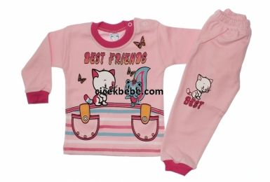 1-2 YAŞ BEST FRİENDS BASKILI BEBE TAKIMI (2ad)