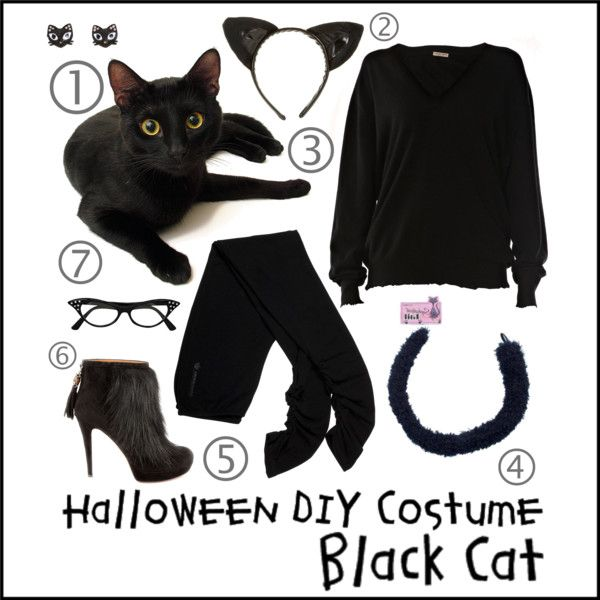 DIY Black Cat Costume & Costume DIY Black Cat | Pinterest | Black cats Black cat costumes ...