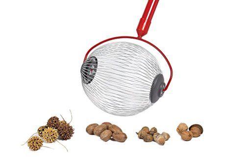 Garden Weasel 95306 Weasel Medium Nut Gatherer Rolling Pecan