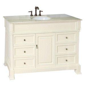 Bellaterra Home 50 Inch Single Sink Vanity Set Base Finish Wood