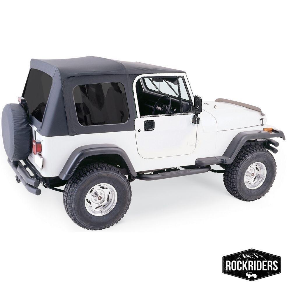 1976 1995 Jeep Wrangler Cj7 Full Door Soft Top With Hardware Tinted Windows Soft Tops Jeep Jeep Wrangler