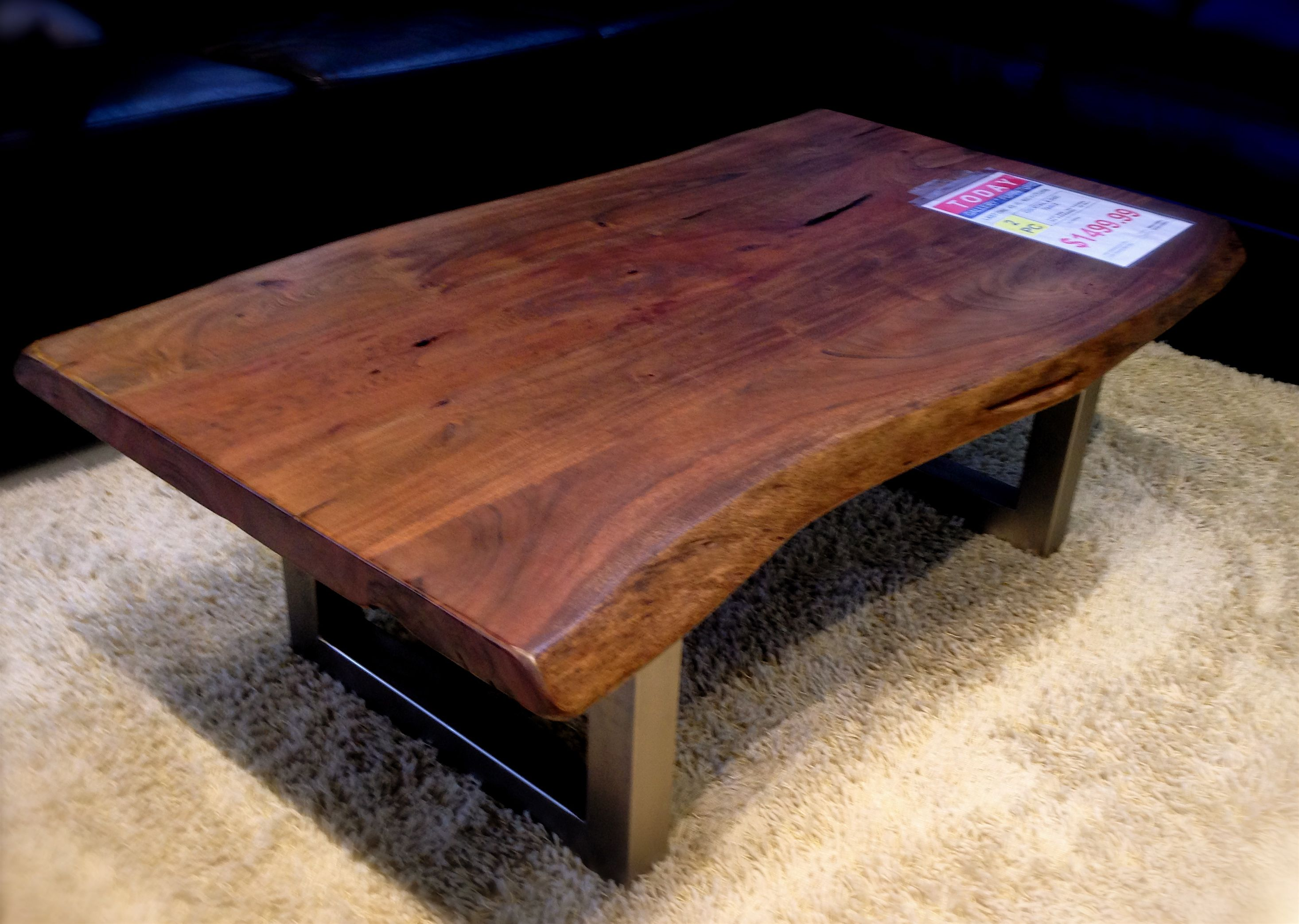 Gorgeous Wood and Metal Coffee Table