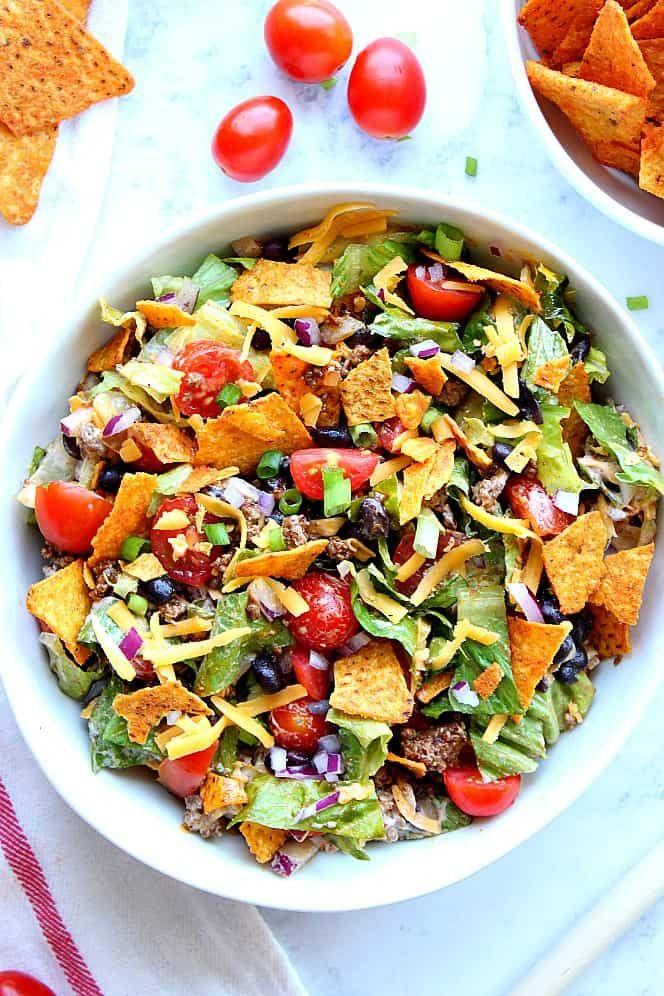 Dorito Taco Salad #tacosalad