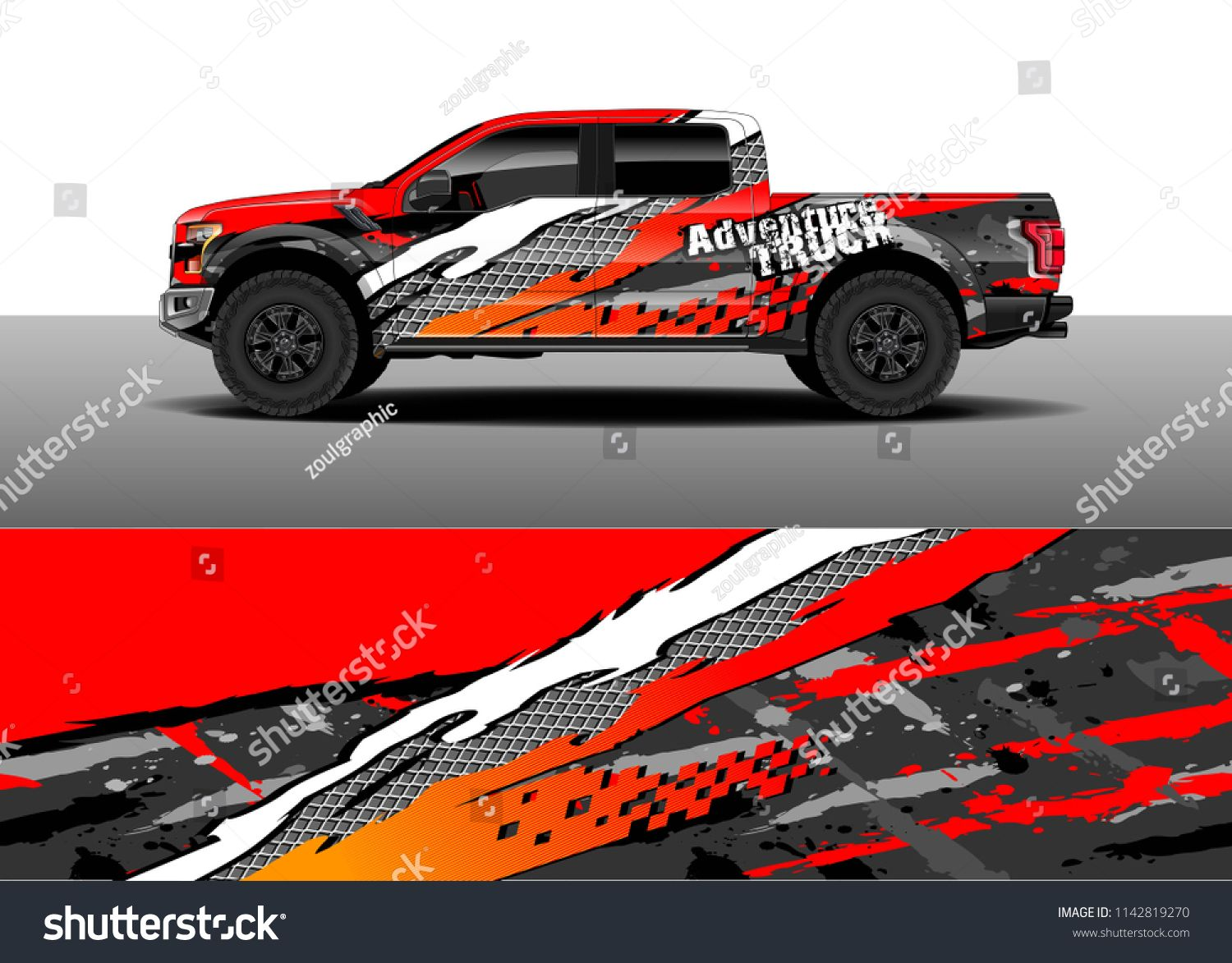 Truck and vehicle graphic decal designs car wrap vector graphic abstract stripe designs for advertisement race adventure and livery car