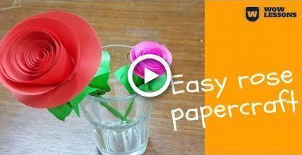 DIY Paper Rose Flower - DIY Paper Flowers - How to - Paper Flower Backdrop Wedding #easypaperflowers