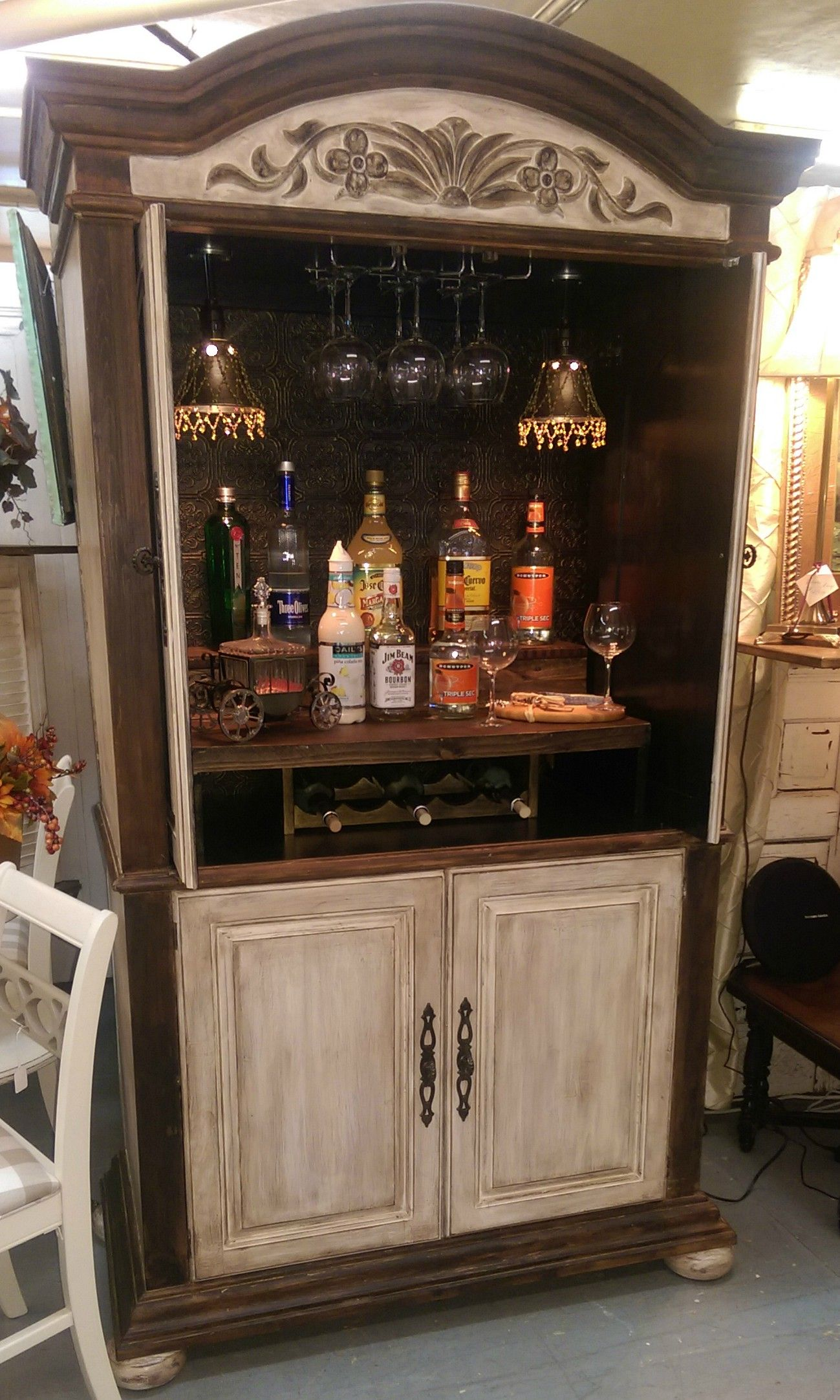 Pin By Ani On About Magazine Vintage For A Cause Auction Armoire Makeover Armoire Bar Coffee Bar Home