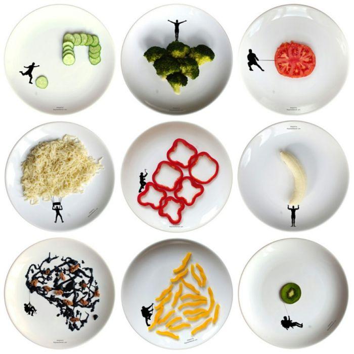Designer Teller Set designer geschirr set mit dem essen spielt doch essen