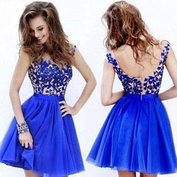 vestidos para boda cortos azul - buscar con google   vestidos