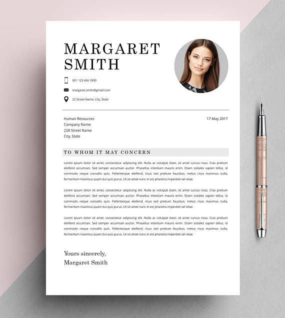 Classic Resume Template, CV Template, Instant Download, Editable in ...