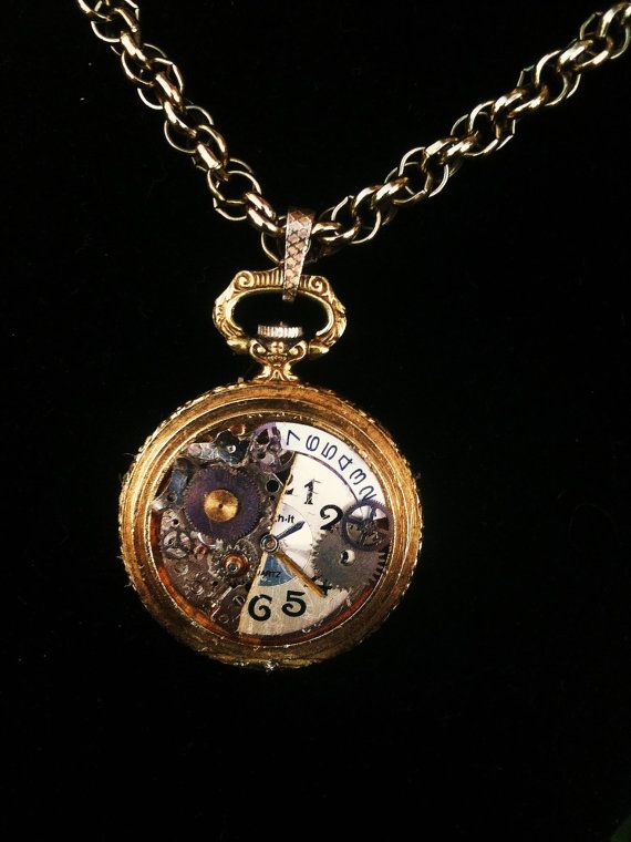 vintage clockwork cameo steampunk silver punk necklace shop the