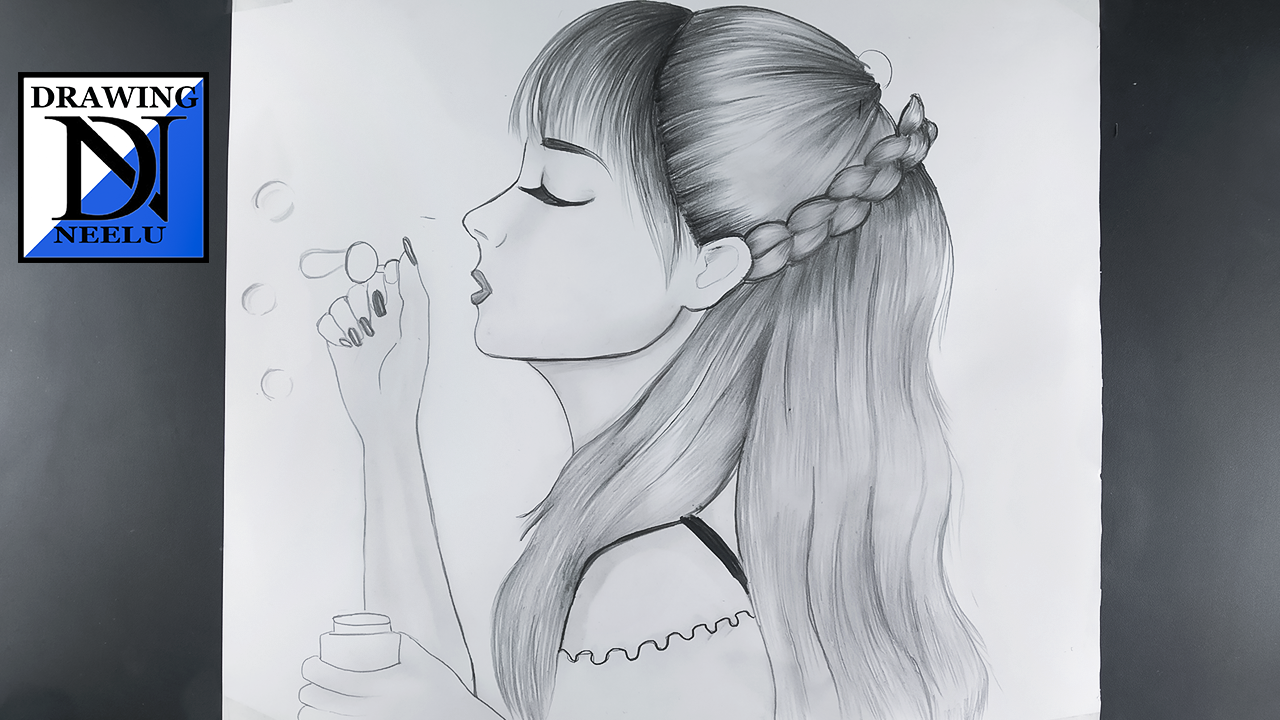 How to Draw Girl Blowing Bubbles | drawing of girl | drawing for girls easy | easy drawing for girls drawing for girls easy drawing for girls drawing for girls easy girl drawing drawing girl drawing of girl girl drawing easy drawing girl easy girls drawing How to Draw Girl Blowing Bubbles drawing girl blowing bubbles #drawingneelu