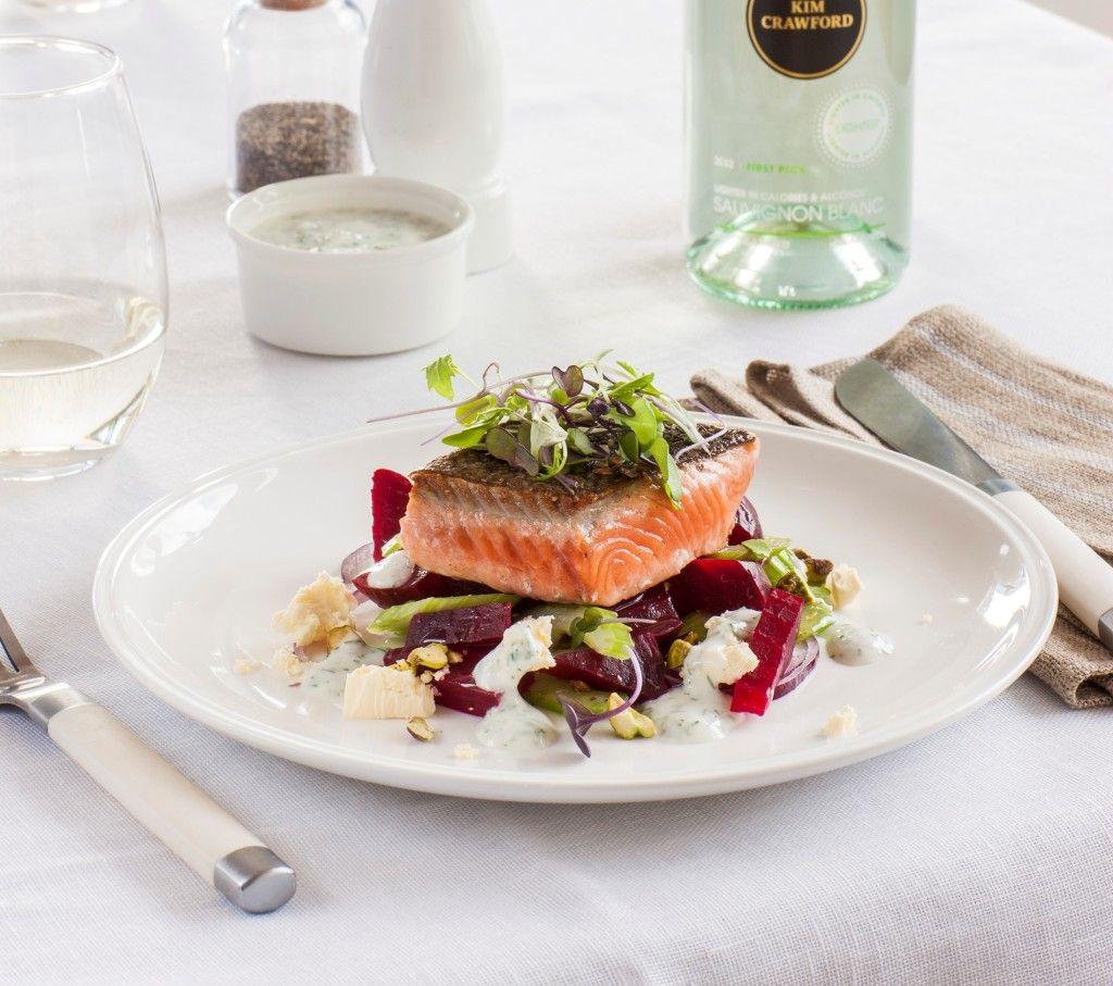 Chelsea Winter Crispy Skin Salmon Salad With Beetroot