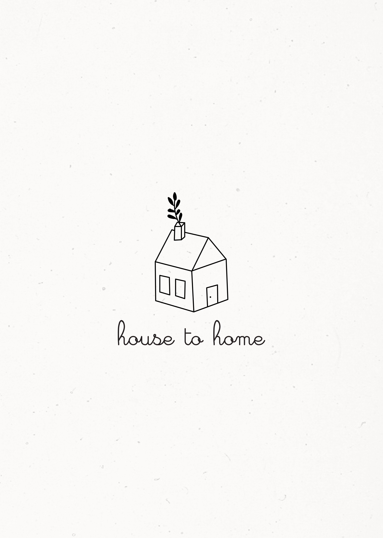 Home Interior Premade Logo Design Cottage House Farm Business