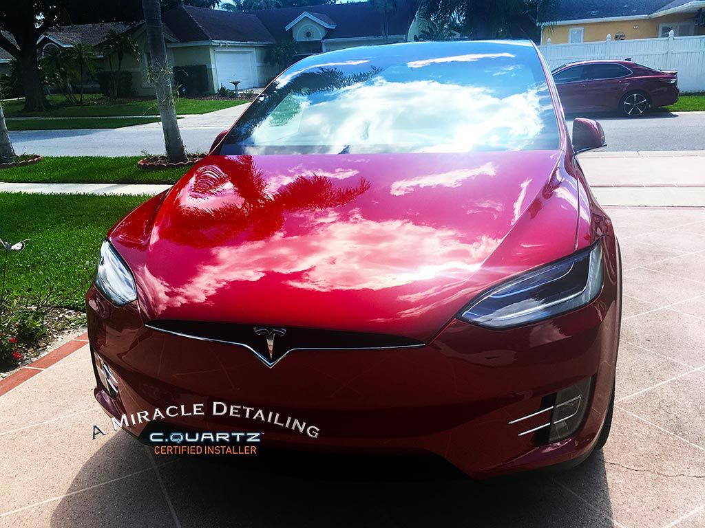 2018 Tesla Model X A Miracle Detailing Cquartz Professional Call Us For A Free Quote 561 877 0263 A Miracle Det Tesla Model X Car Detailing Tesla Model