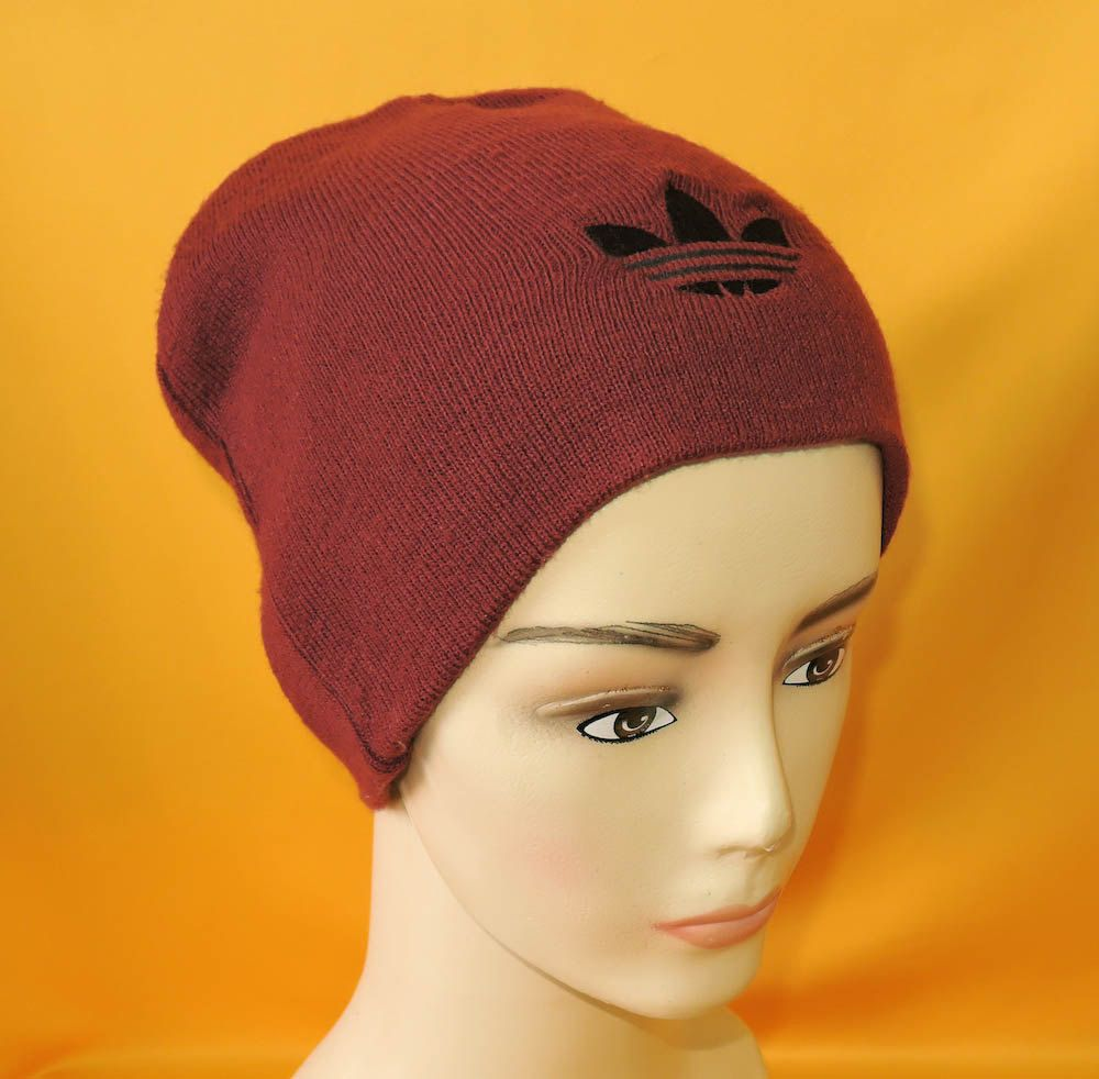 c9dea20bb1c Adidas Beanie Ski Hat Vintage 80s Signature Logo Trefoil Solid Red Acrylic Snow  Cap by InPersona on Etsy