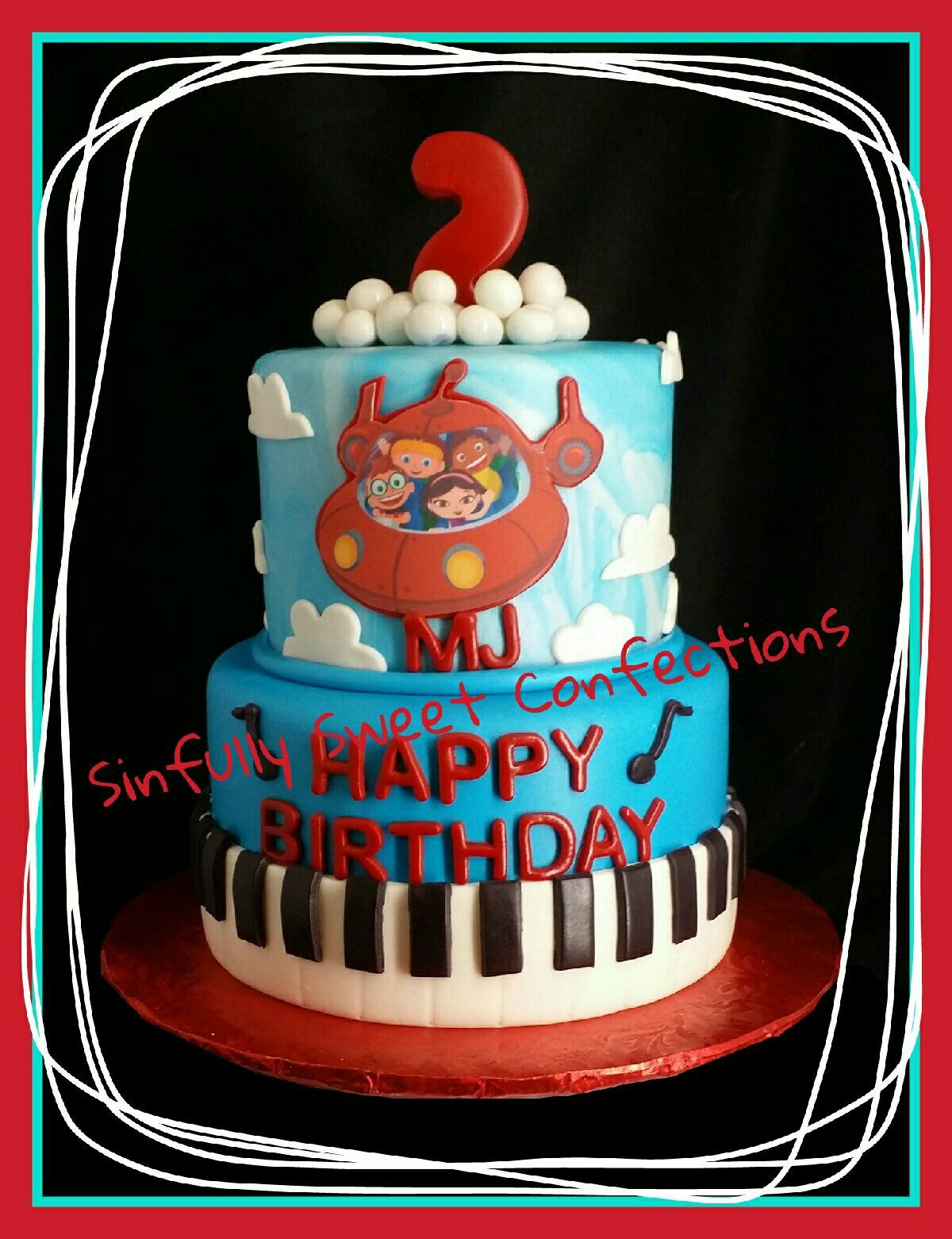 Little Einsteins Birthday Cake Sinfully Sweet Confections Pinterest