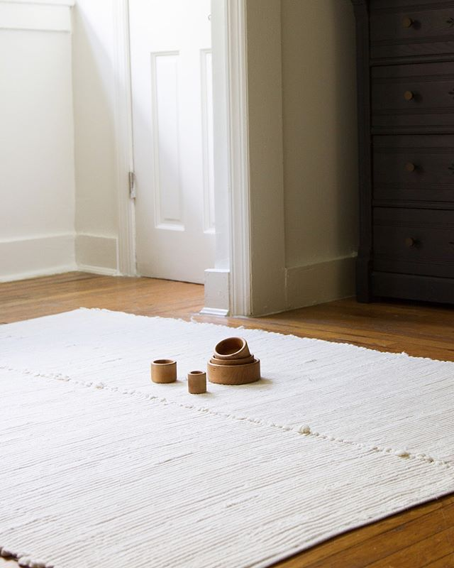 Willaby Erin Boyle Handwoven Undyed Organic Cotton Area Rug