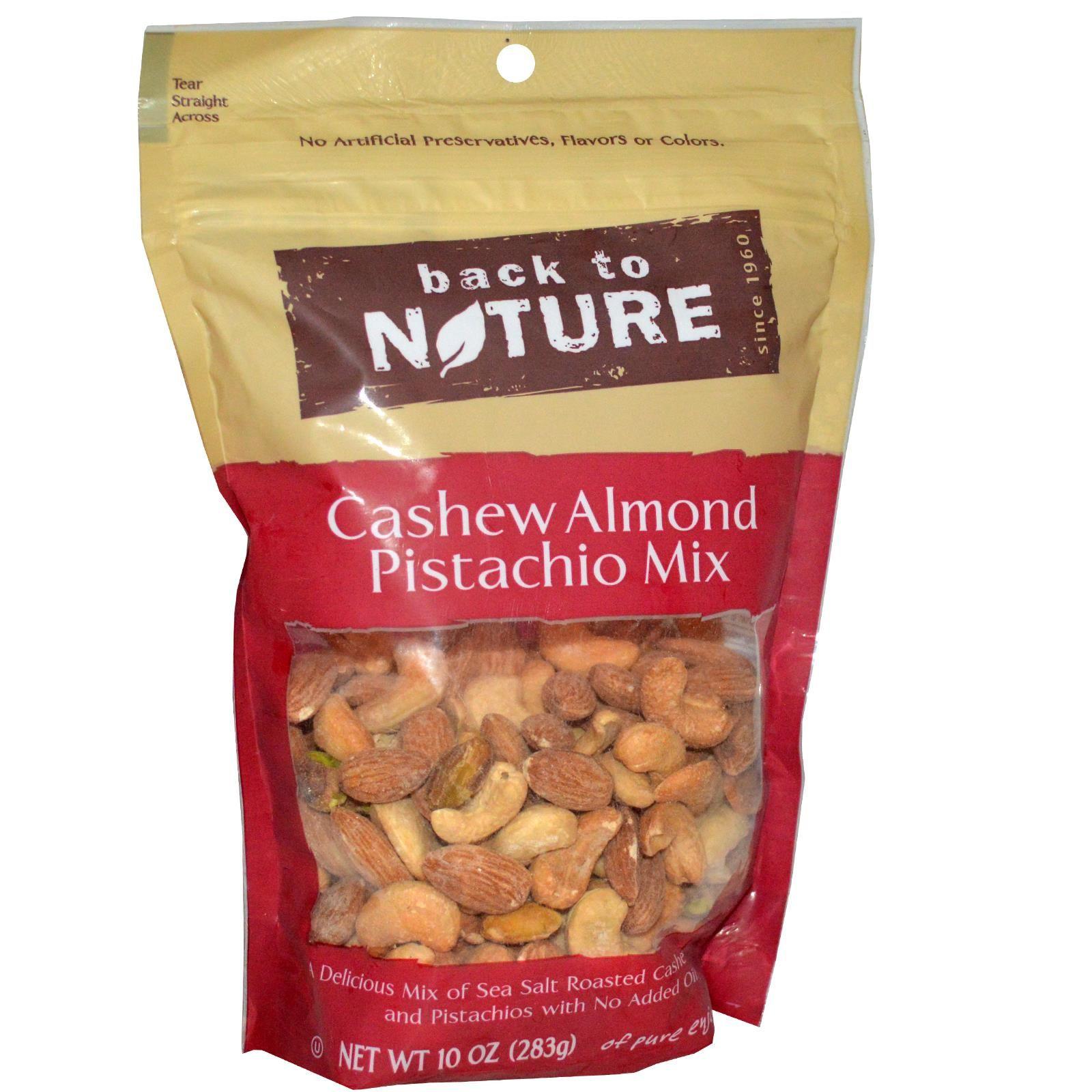Back to Nature, Cashew Almond Pistachio Mix, 10 oz
