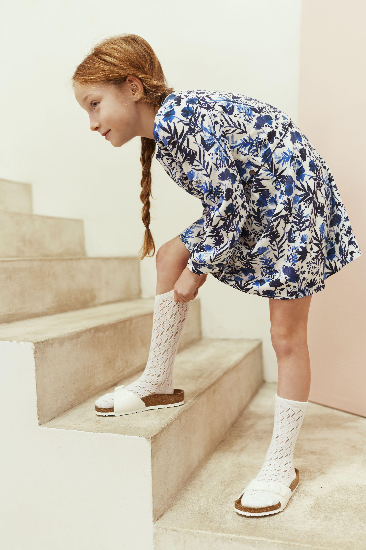 Look fille robe imprimée fleurs Printemps,Eté 2017 collection IKKS Kid Girl  ss17