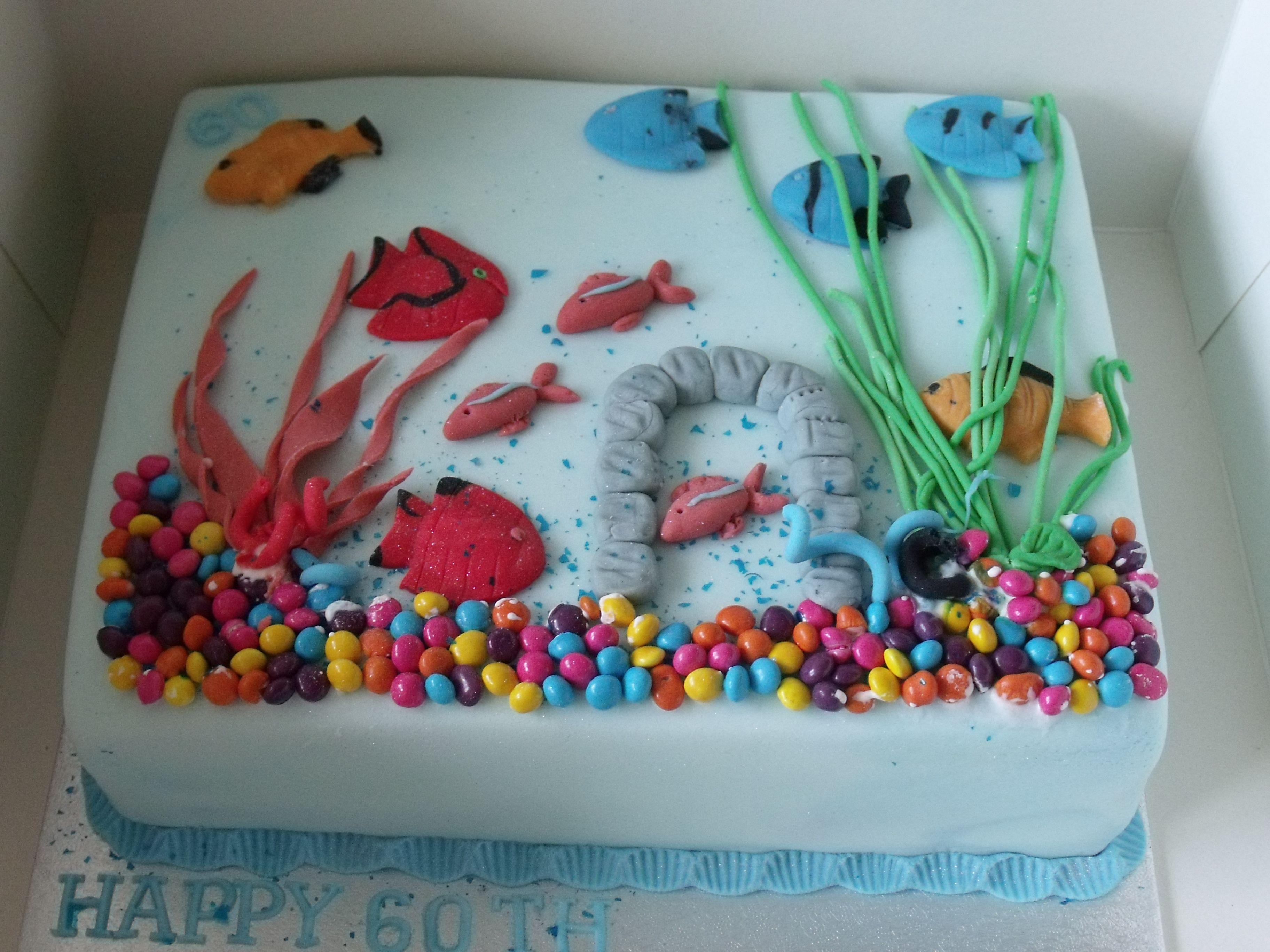 Fabulous Fish Tank Cake With Images Fish Cake Birthday Birthday Cake Funny Birthday Cards Online Necthendildamsfinfo