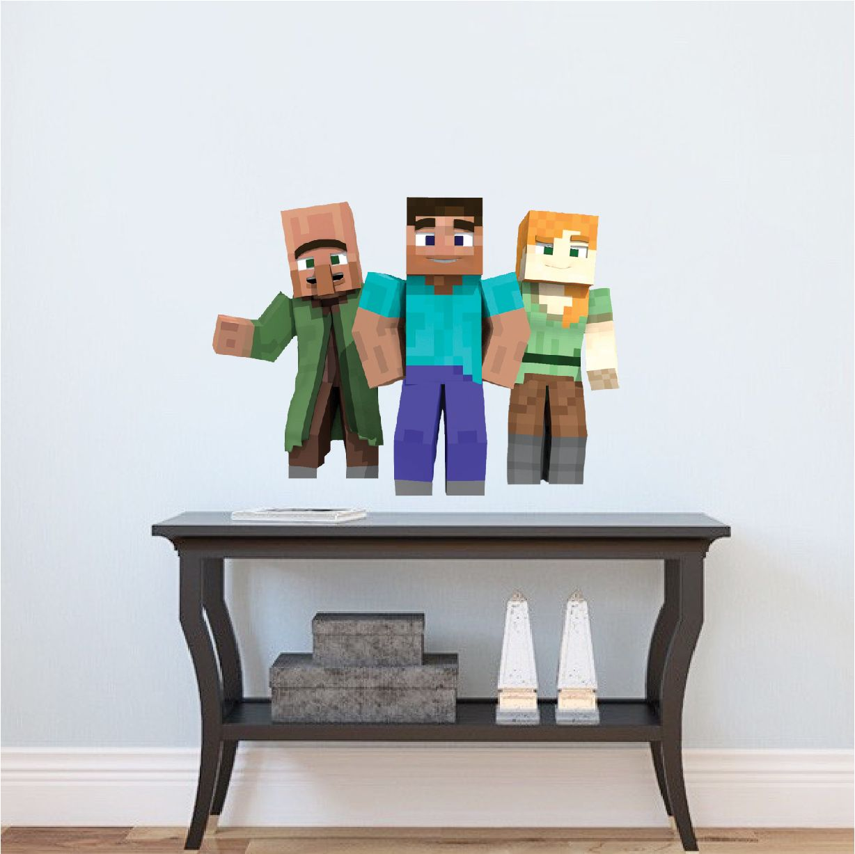 Minecraft steve and alex bedroom wall stickers minecraft design minecraft steve and alex bedroom wall stickers minecraft design decals video game wall decal amipublicfo Choice Image
