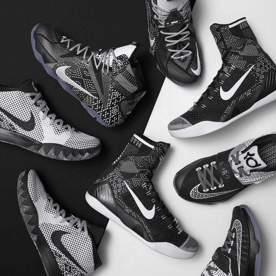 "hot sale online 4e7f5 13efa Nike Kyrie 1 ""BHM"" Color WhiteBlack-Dark Grey Style Code 718820-100  Release Date 011915 Price 130"