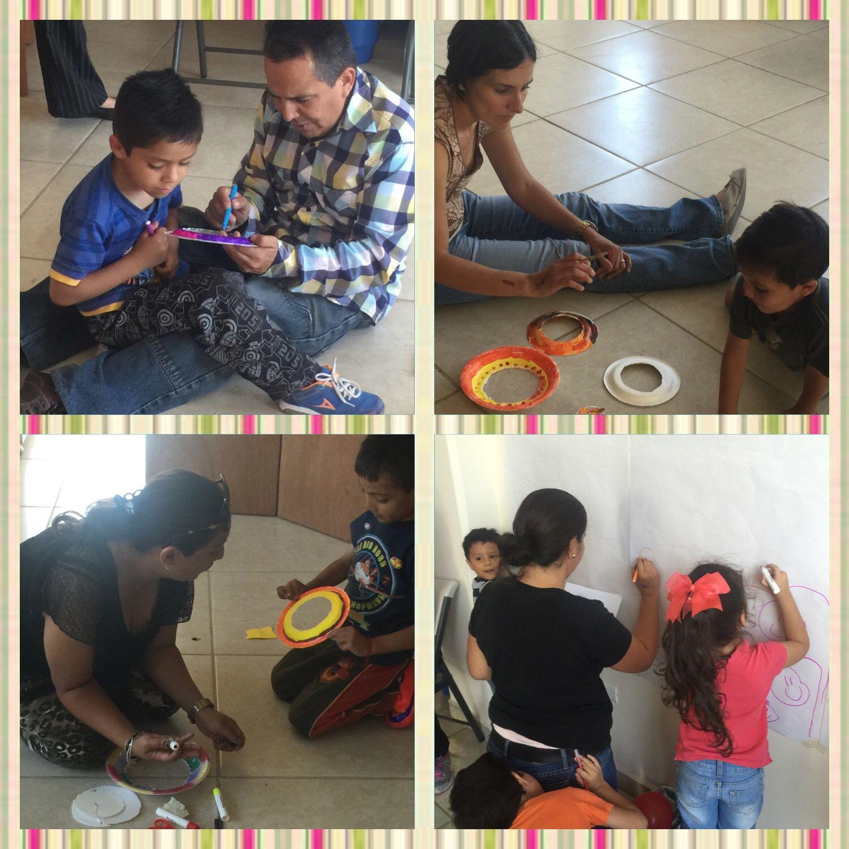 Taller de Artes Expresivas con niños y papas en Aguascalientes #arteterapiaguatemala