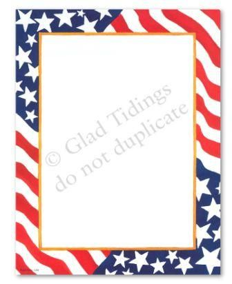 printable page borders patriotic free printable american