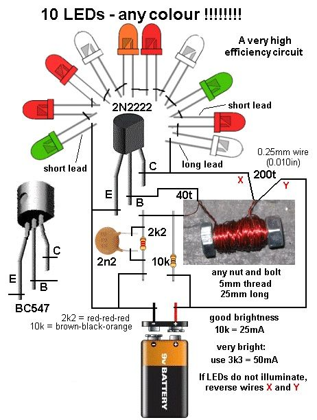 how to illuminate 10 leds on a 9v battery electrical info pics non rh pinterest co uk 5Mm LED Lights 9v led wiring