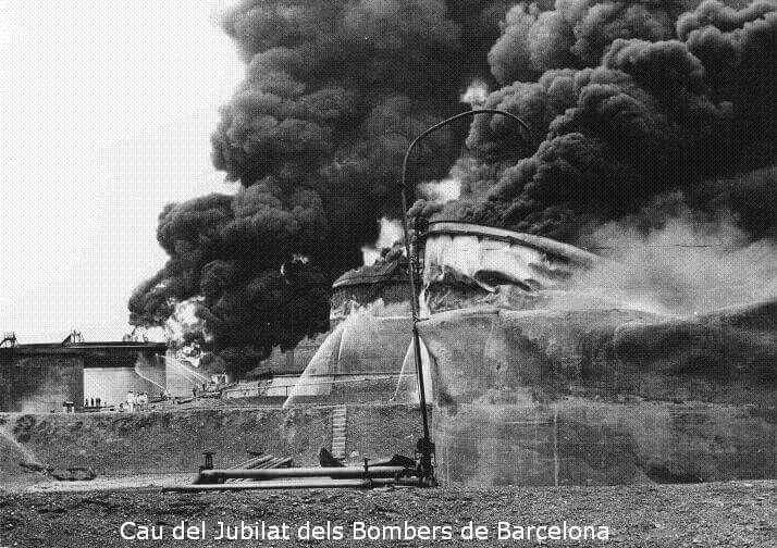 El desastre, Escombreras arde.Spain.