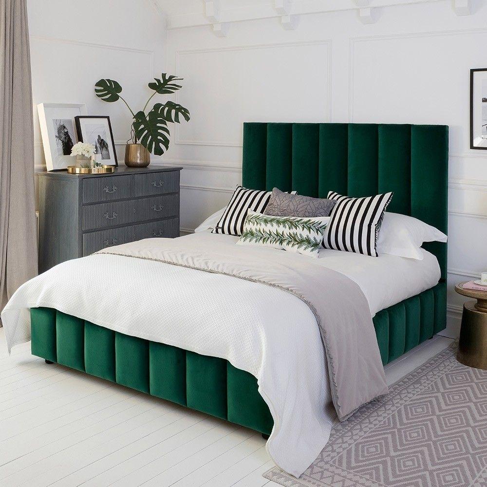 Emerald Velvet Upholstered Bed | Sweetpea & Willow in 2019 ...