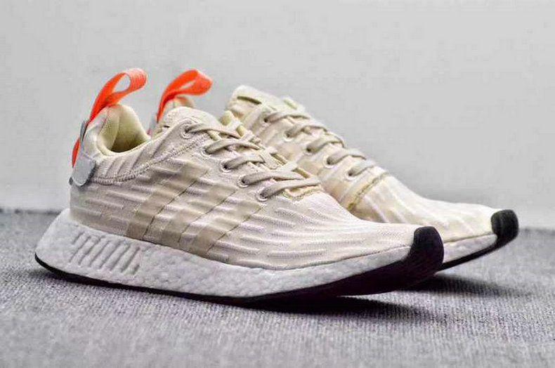 0a8316ae4 Adidas NMD R2 Pk Brown Orange White Popular Shoe