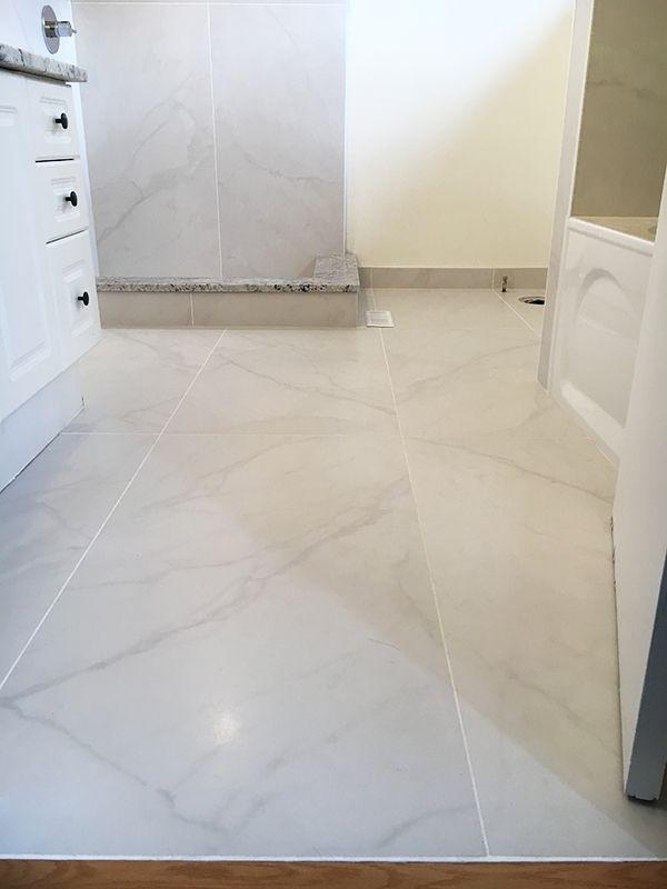 24x48 porcelain tile schluter shower 3
