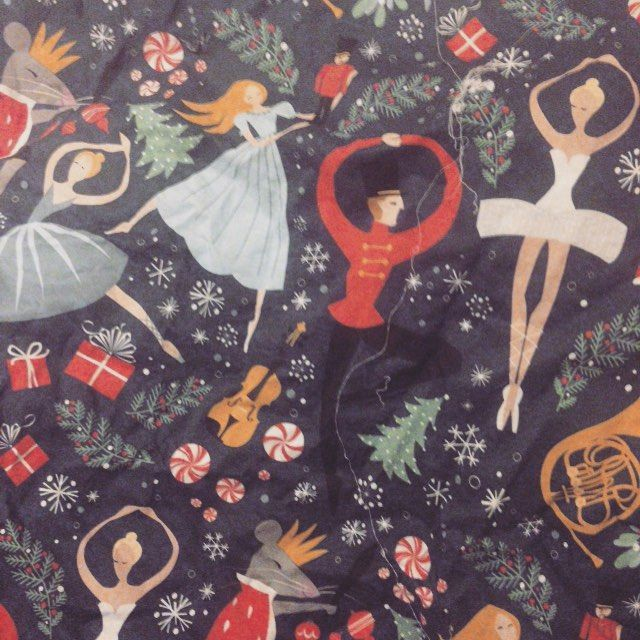 It's not even halloween but I'm already looking towards #christmas for @OdetteClothing designs! I love this #nutcracker ballet fabric!  #odette #odetteclothing #ballet #sewing #fabric #etsy #holiday
