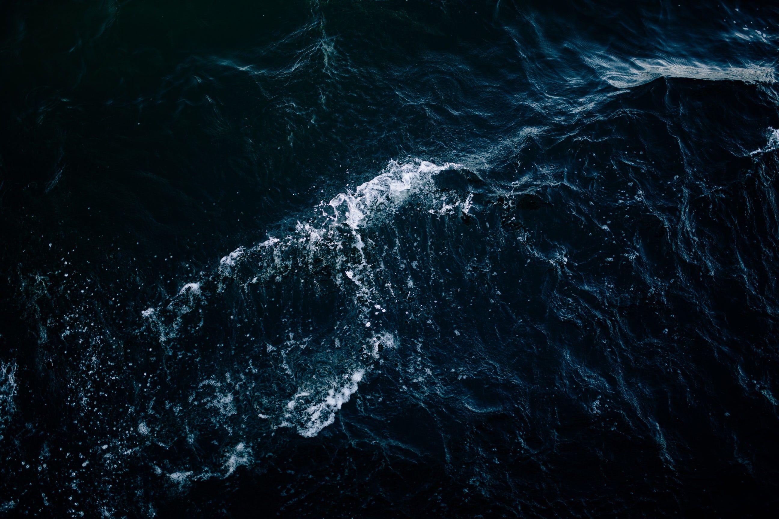 High Resolution Dark Blue Ocean Wallpaper